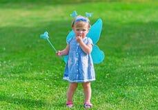 Retrato de la pequeña hada con una vara mágica Fotografía de archivo