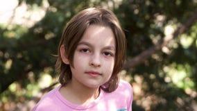 Retrato de la pequeña muchacha Fotos de archivo