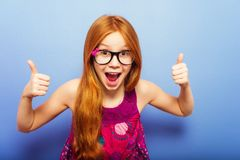 Retrato de la pequeña muchacha de 10 años Foto de archivo