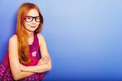 Retrato de la pequeña muchacha de 10 años Foto de archivo libre de regalías