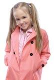 Retrato de la pequeña muchacha de pelo rubio Imágenes de archivo libres de regalías