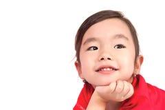 Retrato de la pequeña muchacha feliz Fotos de archivo