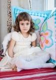 Retrato de la pequeña muchacha linda Imagen de archivo