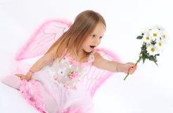 Retrato de la pequeña princesa en una alineada rosada Foto de archivo