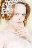 Retrato de la princesa del hielo Fotos de archivo