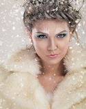 Retrato de la reina del invierno Fotos de archivo