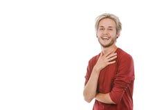 Retrato de la risa del hombre joven Fotos de archivo