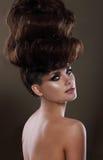Retrato de la señora atractiva con Updo Imagenes de archivo