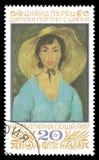 Retrato de la señora con el sombrero de David Perez Fotografía de archivo