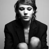 Retrato de la señora con estilo hermosa Imagen de archivo libre de regalías