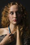 Retrato de la señora con estilo hermosa Imagen de archivo