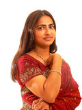 Retrato de la señora india. Imagen de archivo