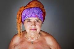 Retrato de la señora mayor Foto de archivo libre de regalías