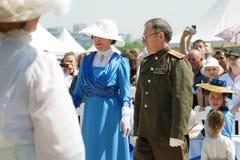 Retrato de la señora y del caballero del baile en trajes históricos Fotografía de archivo libre de regalías