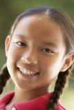 Retrato de la sonrisa de la muchacha Fotos de archivo libres de regalías