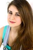 Retrato de la sonrisa linda del adolescente aislada Fotografía de archivo libre de regalías