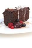 Retrato de la torta de fango del chocolate Fotografía de archivo