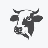 Retrato de la vaca de Holstein libre illustration