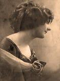 Retrato de la vendimia Fotos de archivo