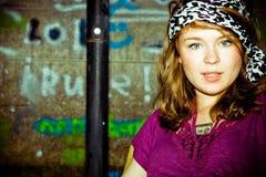 Retrato de la vendimia de una chica joven Fotografía de archivo