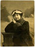 Retrato de la vendimia de una chica joven. Fotos de archivo libres de regalías