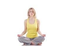 Retrato de la yoga practicante de la muchacha sana Imagenes de archivo