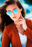 Retrato de las gafas de sol Foto de archivo libre de regalías