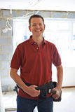 Retrato de las mejoras de Carrying Out Home del constructor Fotografía de archivo libre de regalías