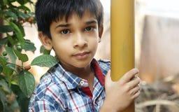 Retrato de Little Boy indiano Fotos de Stock Royalty Free