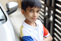 Retrato de Little Boy indiano Foto de Stock
