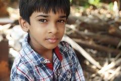 Retrato de Little Boy indio Foto de archivo libre de regalías