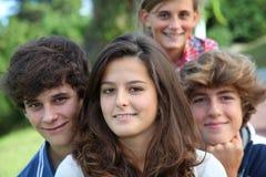 Retrato de los adolescentes Fotos de archivo