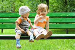 Retrato de los dos niños Imagen de archivo