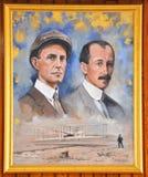 Retrato de los hermanos de Wright fotos de archivo libres de regalías