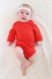 Retrato de los 2 meses preciosos de bebé Imagenes de archivo