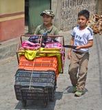 Retrato de los muchachos del maya Fotos de archivo