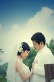 Retrato de los pares de la boda Fotos de archivo libres de regalías