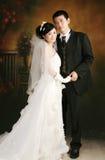 Retrato de los pares de la boda Foto de archivo libre de regalías