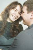 Retrato de los pares felices de la familia Imagen de archivo libre de regalías