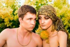 Retrato de los pares jovenes del amor Foto de archivo libre de regalías