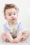 Retrato de los seis meses lindos del bebé Fotografía de archivo
