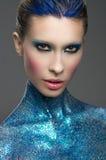 Retrato de Losup da mulher nova bonita fotografia de stock royalty free