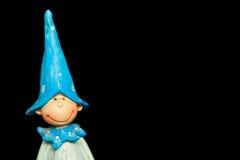 Retrato de madeira da boneca Imagem de Stock Royalty Free