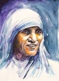 Retrato de madre Teresa Foto de archivo libre de regalías