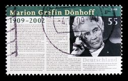 Retrato de Marion Grafin Donhoff, serie centenario del nacimiento, circa 2009 fotos de archivo