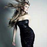 Retrato de menina de dança charming Imagem de Stock Royalty Free