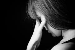 Retrato de menina deprimida do adolescente. Imagens de Stock Royalty Free