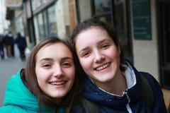 Retrato de meninas bonitas Fotografia de Stock