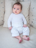 Retrato de 2 meses de bebê idoso Imagem de Stock