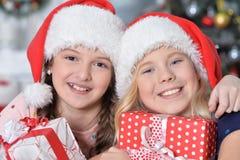 Retrato de muchachas felices Imágenes de archivo libres de regalías